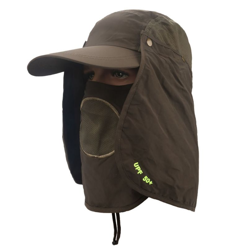 hiking fishing hat outdoor anti sun wind neck face