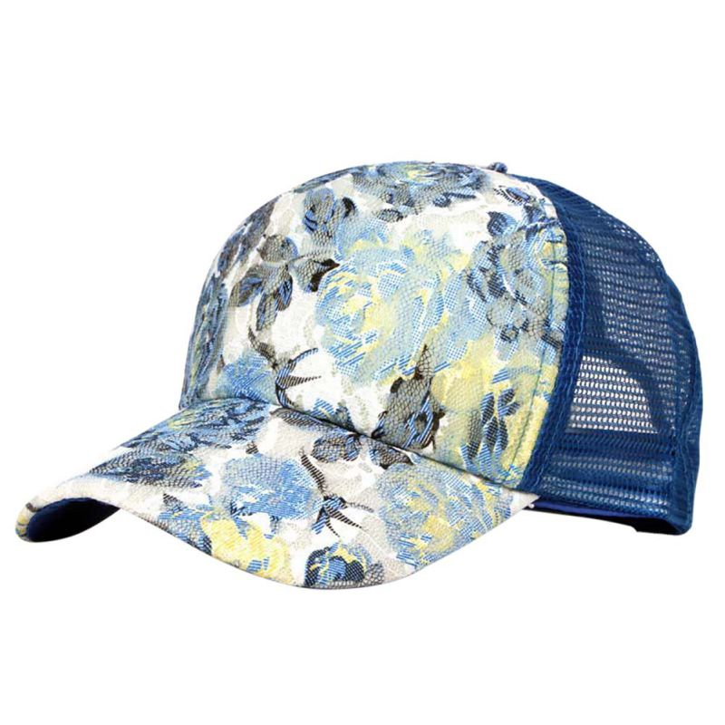 lace floral hat adjustable snapback baseball cap