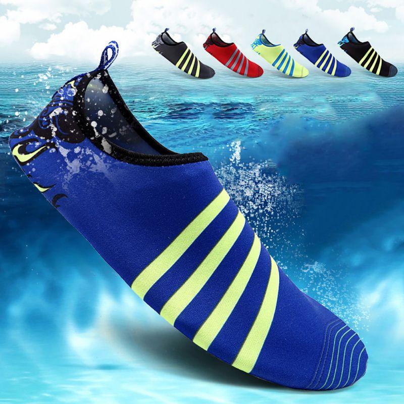 Men Women Skin Water Shoes Aqua Summer Beach Surf Sock Wetsuit Slip On Pool Swim Ebay