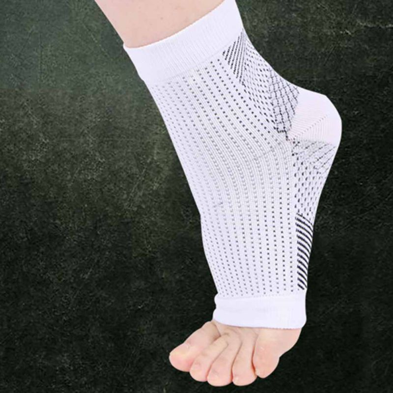 1Pair Foot Compression Sleeve Anti Plantar Support Ankle Angel Socks Relief S-XL