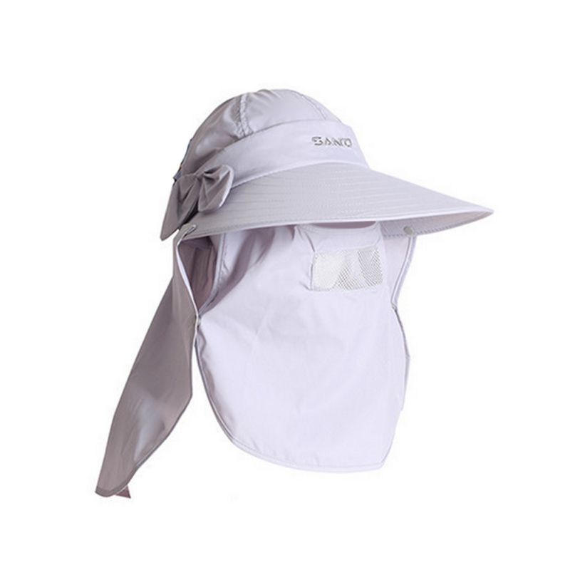 Summer outdoor sun protection fishing cap neck face flap for Fishing neck cover