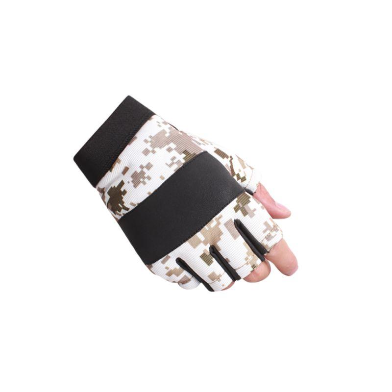Half Finger Uv Protection Camo Sun Gloves Outdoor Sports
