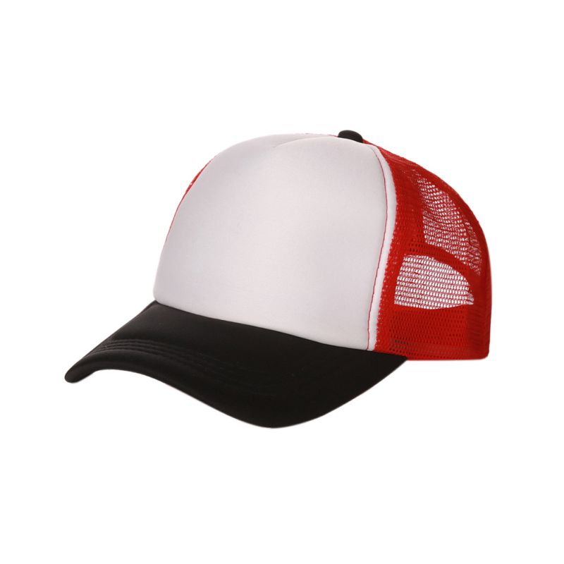 new plain baseball cap solid trucker mesh blank curved