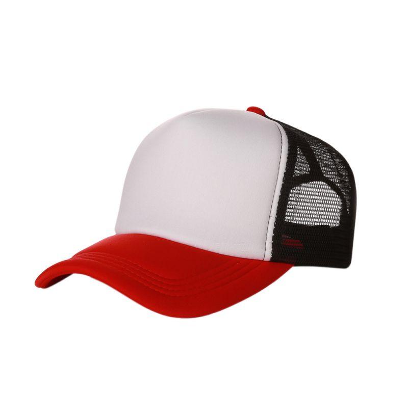 New Plain Baseball Cap Solid Trucker Mesh Blank Curved ...