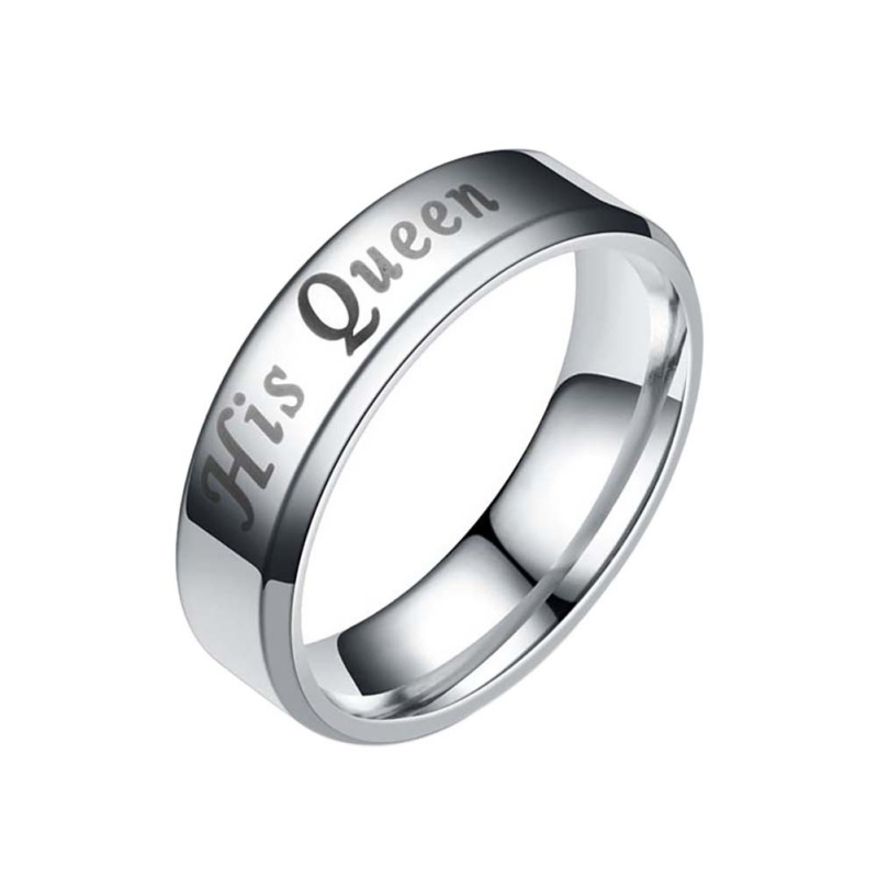 Titanium Steel Couple Ring Matching Rings King Queen ...