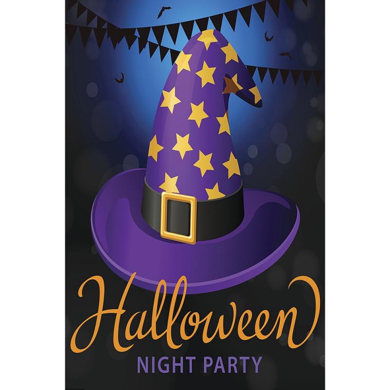 Halloween-Welcome-Autumn-Fall-Garden-Flag-Banner-Party-Decor-12x18inch