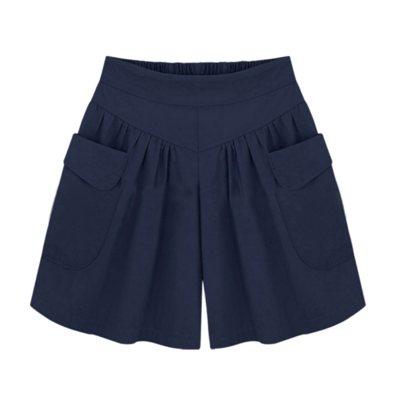 lady loose shorts femmes summer short taille haute lastique mode pantalon court ebay. Black Bedroom Furniture Sets. Home Design Ideas