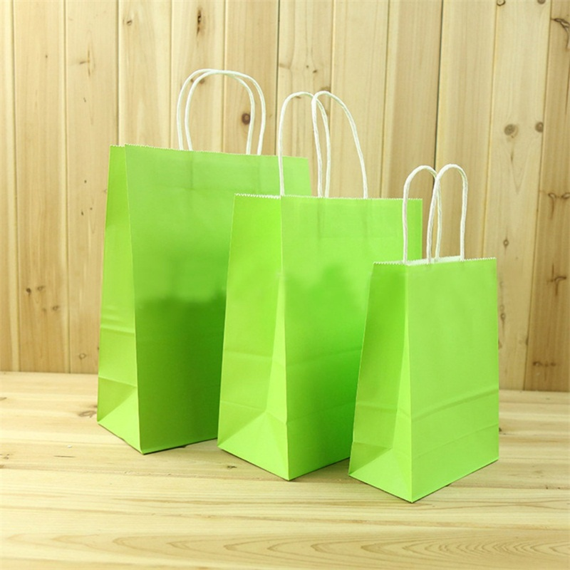 Recyclable party bags craft paper gift bag with handles for Craft paper gift bags