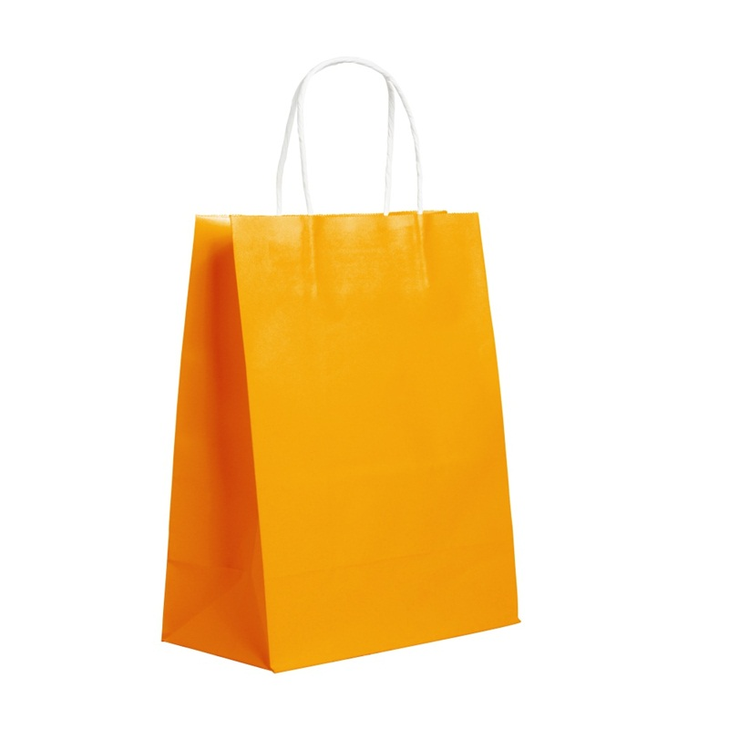 Recyclable Kraft Paper Party Bags Handles Loot Bag Gift