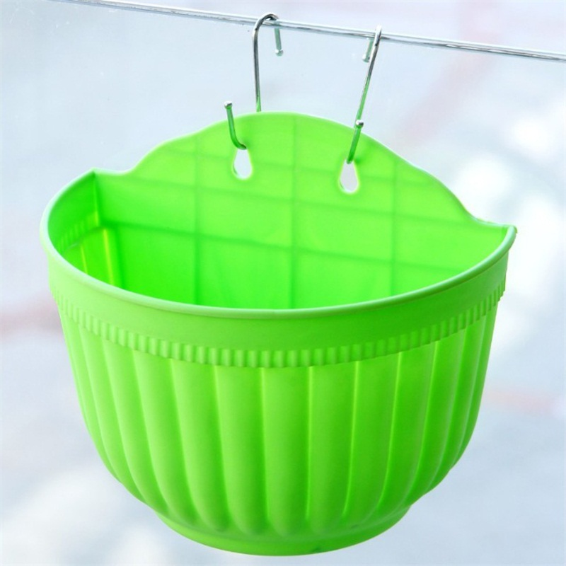 Plastic wall hanging storage hanging basket plant planter for Decorative hanging pots