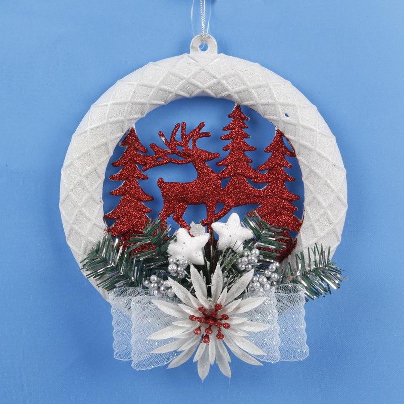 Christmas tree snowflake ornament wall door hanging decor