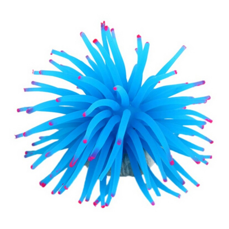 Aquarium-Fish-Tank-Sea-Anemone-Decor-Artificial-Coral-Plant-Soft-Silicone-Adorn