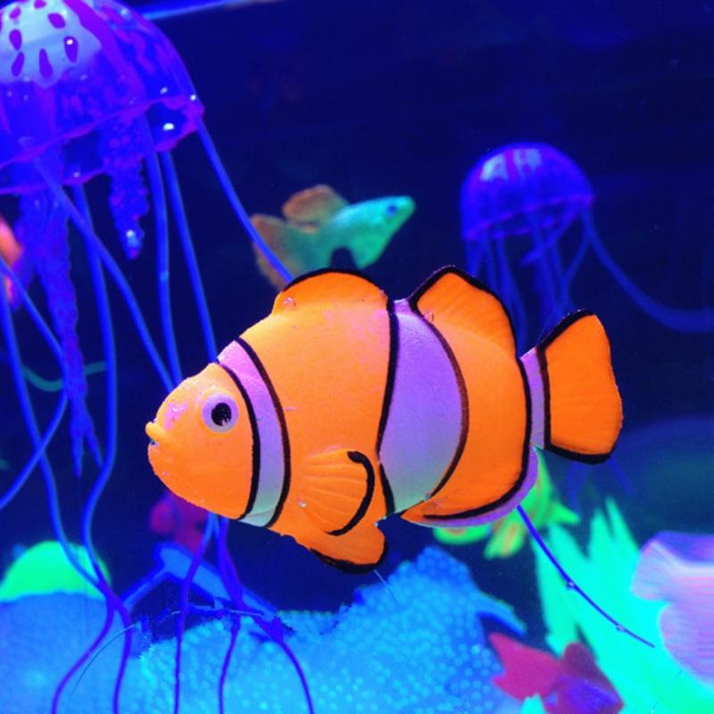 Artificial plastic fish toy fish tank aquarium ornament for Fake fish for pond