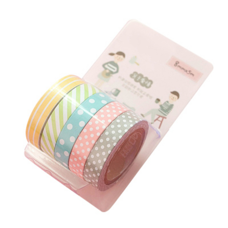 5pcs set cute colored adhesive handmade diy decorative for Diy colored paper