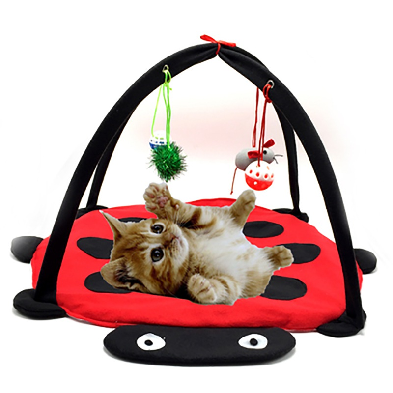Pet cat dog play tent bed lovely activity toys kitten pad for Cat tent