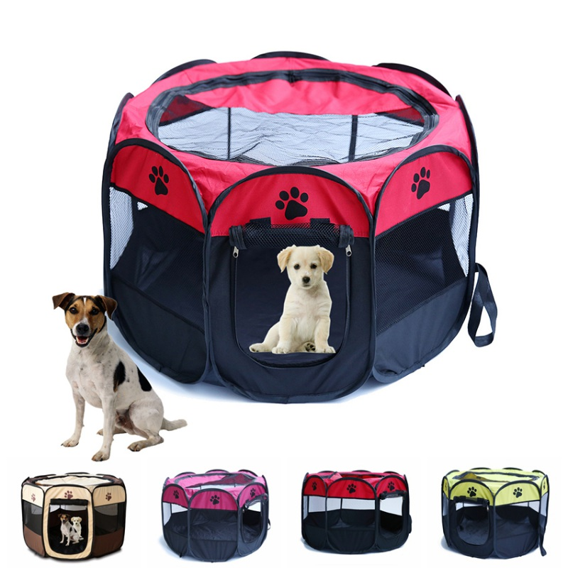oxford puppy pet dog cat playpen tent portable exercise kennel cage crate s m ebay. Black Bedroom Furniture Sets. Home Design Ideas