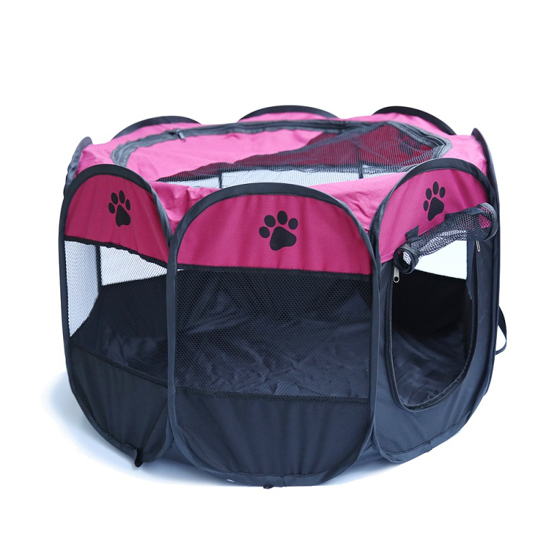 Oxford Pet Dog Cat Playpen Tent Portable Fence Outdoor