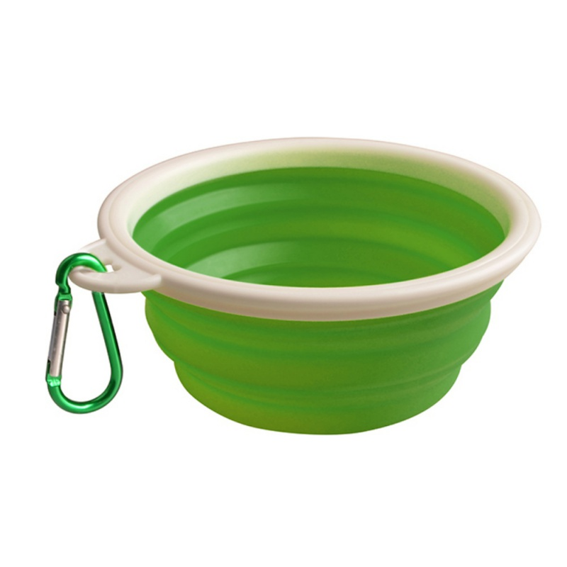 Portable Dog Pet Travel Collapsible Food Water Bowls Pets: Portable Pet Dog Silicone Collapsible Travel Feeding Bowl