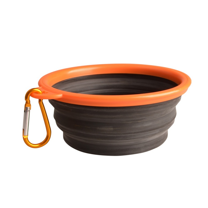 Water Rover Portable Pet Bowl: Portable Pet Feeding Bowl Collapsible Dog Food Water Dish
