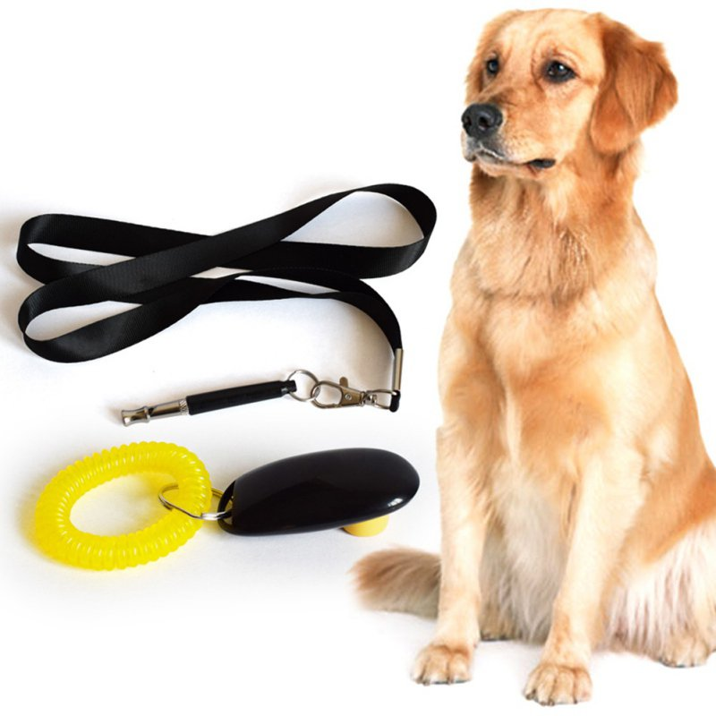 Dog-Pet-Puppy-Cat-Training-Clicker-Whistle-Click-Trainer-Obedience-New