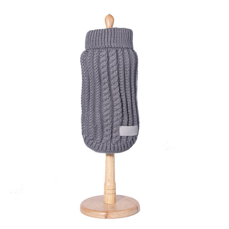 Knitted Dog Sweater Chihuahua Clothes Winter Knitwear Pet Puppy ...
