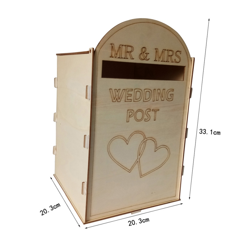 DIY-Wedding-Post-Box-Royal-Mail-Styled-Flat-Pack-Unpainted-MDF-for-Cards-etc thumbnail 10