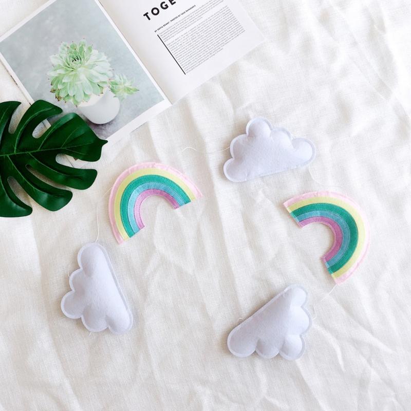 Nordic Cloud Rainbow Cute Garland Banner Nursery Kids Room
