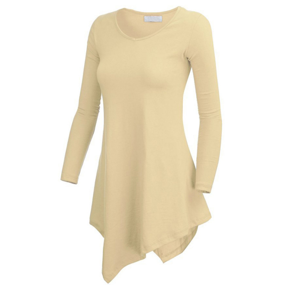 Women Long Sleeve Lightweight Knitting Tunic T Shirts