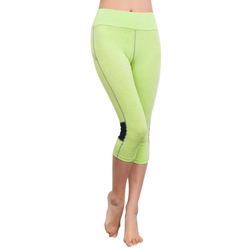 Women Capri Legging Yoga Cropped Pants Sports Gym Workout