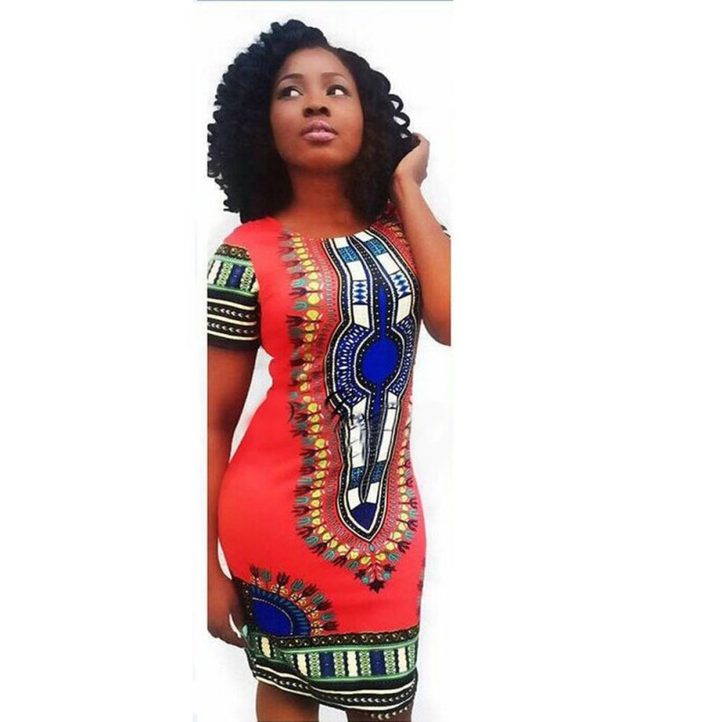 Fashion Women's Traditional African Print Dashiki Dress Party Tops ...