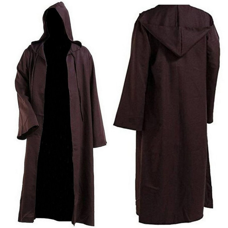 Hooded Cloak Cape Halloween Costume Coat Star Wars Jedi