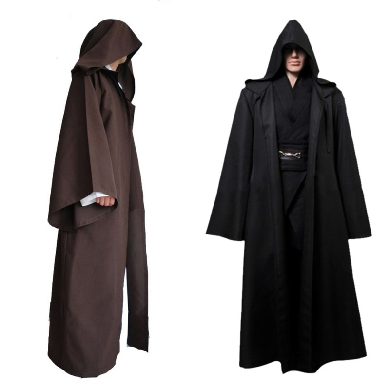 Details about Knight Hooded Cloak Jedi Sith Cosplay Robe Cape Party Costume  Clothes Dress Prop