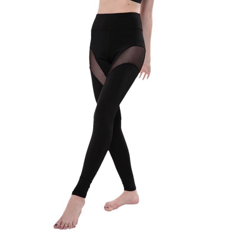 New Beepeak Women39s Long Mesh Yoga Pants Leggings