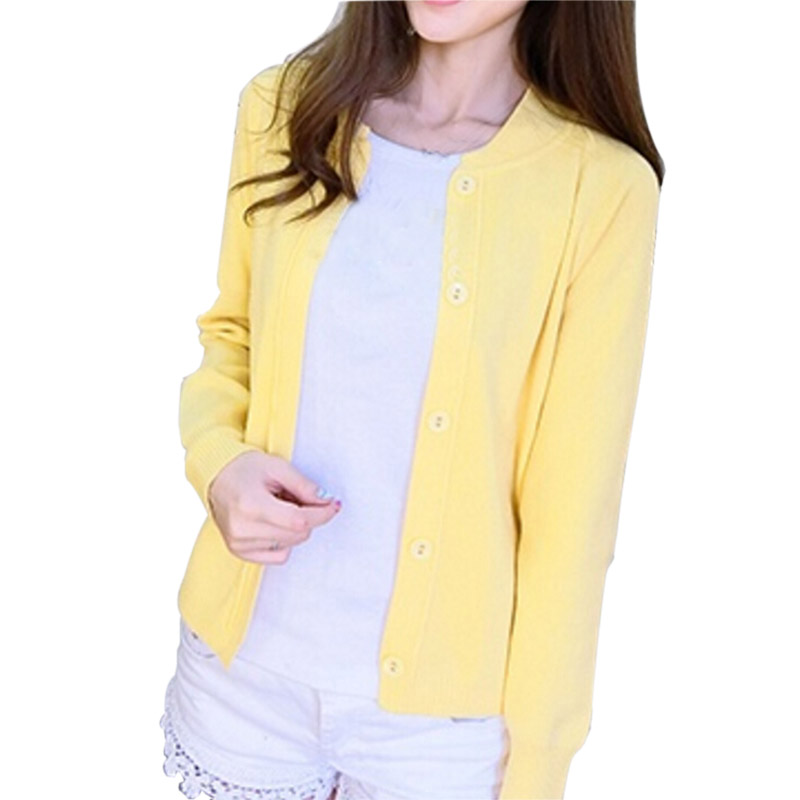 Chic Women Long Sleeve Sweater Lady Casual Cardigan Knit Sweater