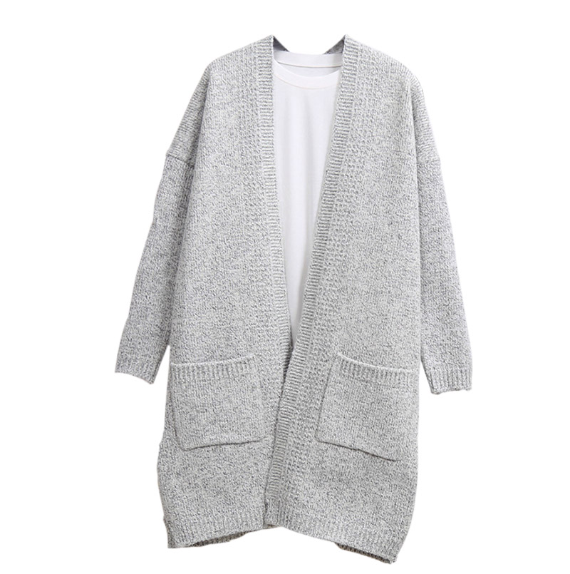 Women Long Sleeve Cardigan Knitted Sweater Outwear Loose Jacket Coat Long Tops