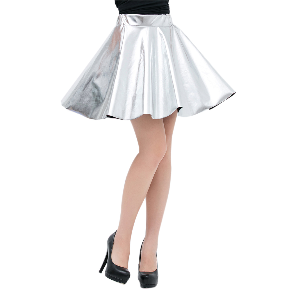 Sexy-Lady-High-Waist-Faux-Leather-Skirt-Flared-Pleated-Plain-Skater-Short-Skirts