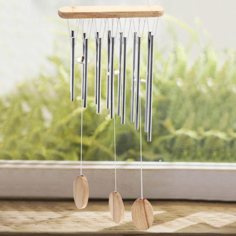 Lucky Tube Copper Bell Wind Chimes Garden Hanging Pavilion Outdoor