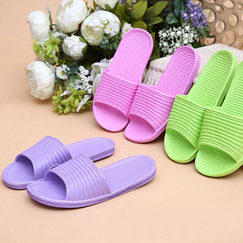 Women-Flip-Flop-Sport-Shower-House-Shoes-Plastic-Slip-Sandals-Slippers-Solid