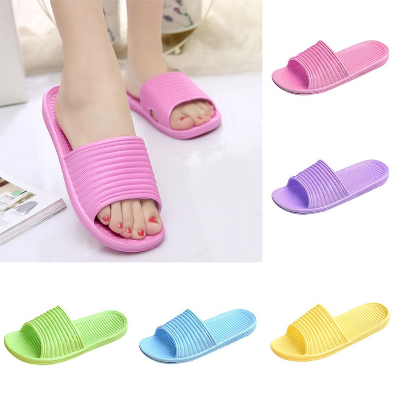 Women-Flip-Flop-Sport-Shower-House-Shoes-Plastic-Slip-Sandals-Slippers-Solid thumbnail 2
