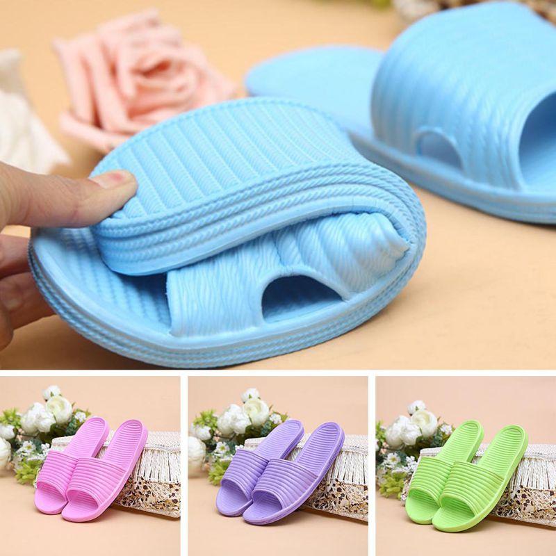 Women-Flip-Flop-Sport-Shower-House-Shoes-Plastic-Slip-Sandals-Slippers-Solid thumbnail 4