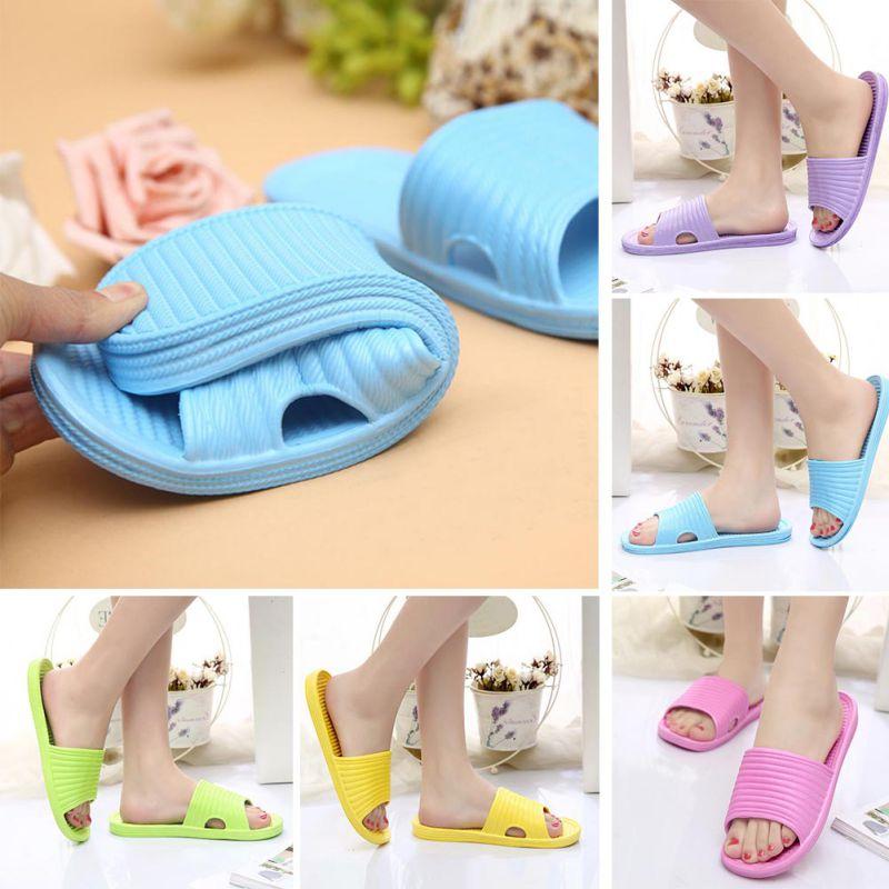 Women-Flip-Flop-Sport-Shower-House-Shoes-Plastic-Slip-Sandals-Slippers-Solid thumbnail 5