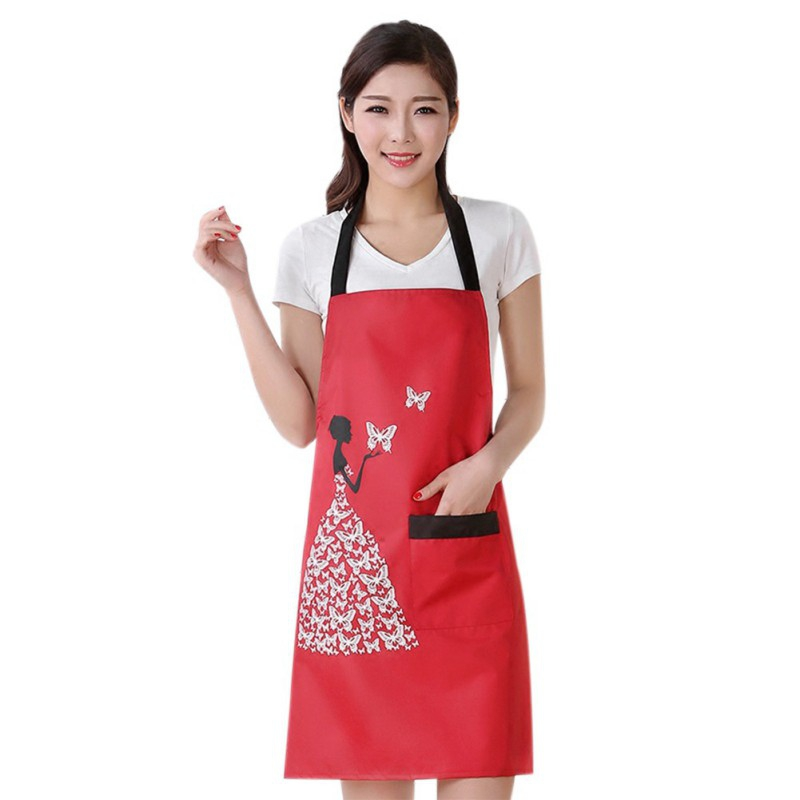 Women Kitchen: Fashion Women Bowknot Cooking Kitchen Restaurant Bib Apron