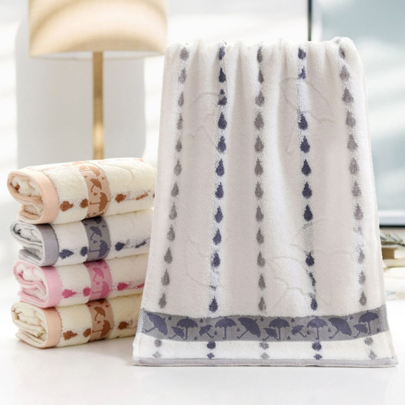 Hand Towels Bathroom: Multi-Styles Soft Soothing Cotton Face Towel Bath Cleaning
