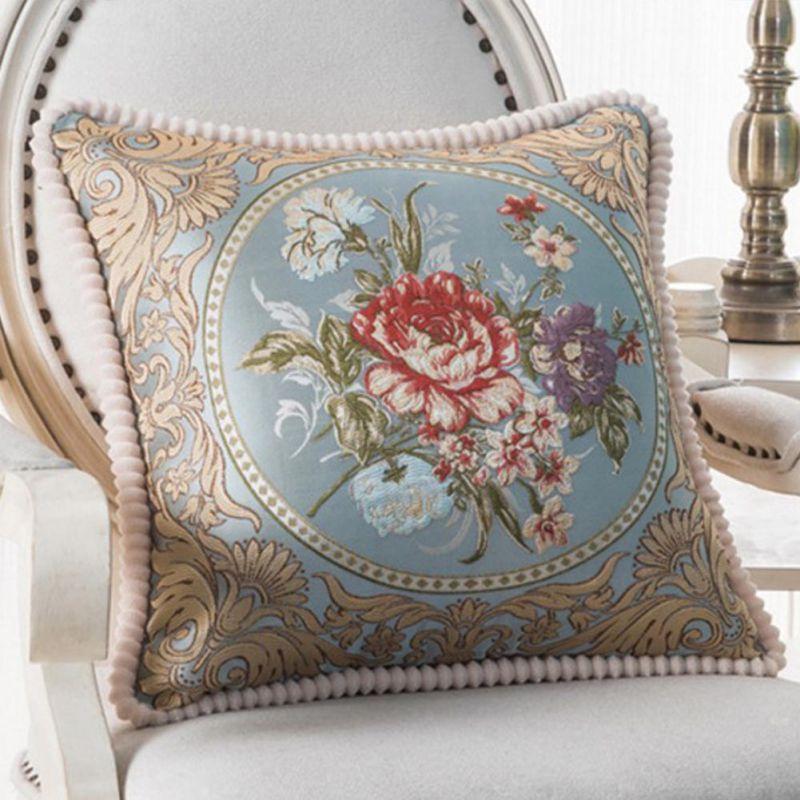 Vintage-Flannel-Pillowcase-Floral-Pillow-Case-Cushion-Cover-Home-Sofa-Decor