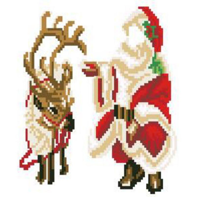 Wall Decor Cross Stitch : D diamond diy painting christmas embroidery cross stitch