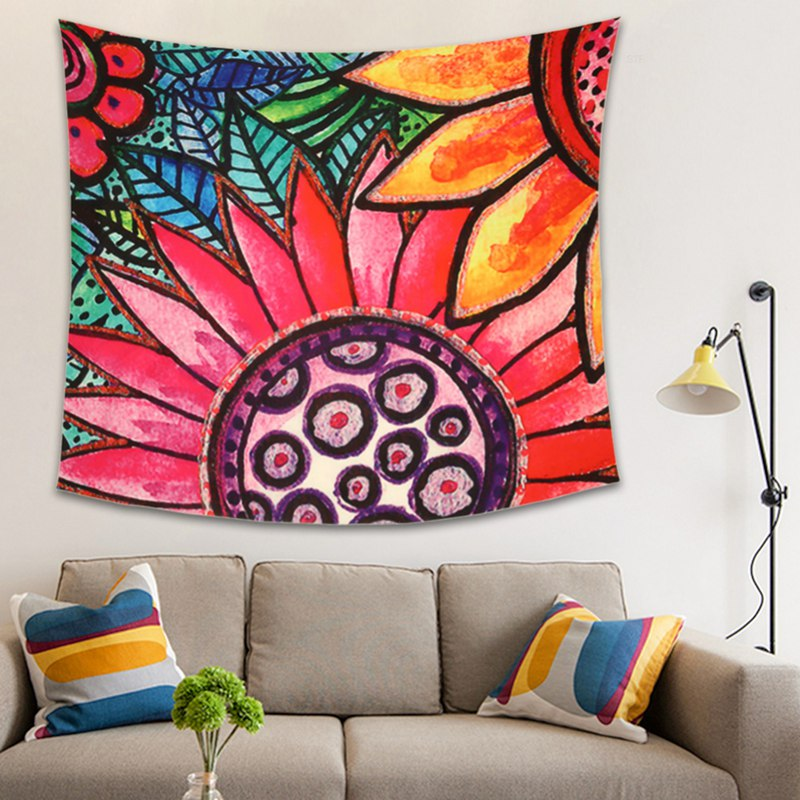 Mandala-Tapestry-Hippie-Wall-Hanging-Bohemian-Bedspread-Throw-Dorm-Decor-YogaMat