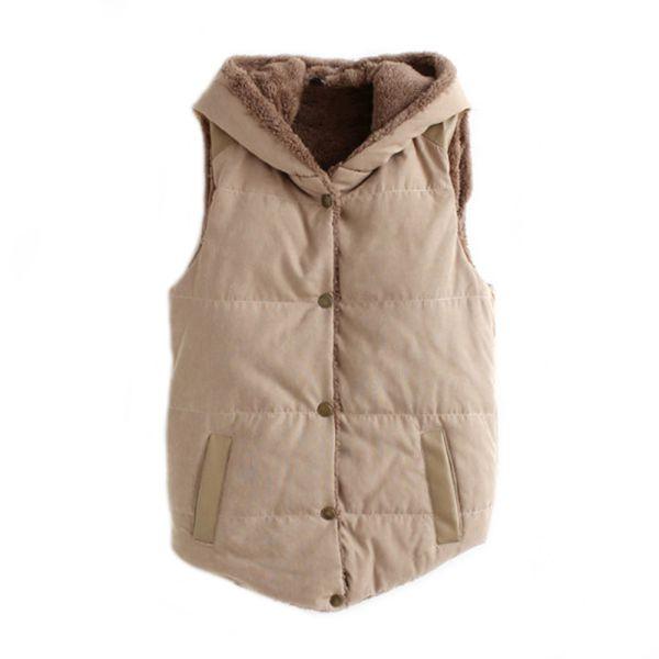 damen vlies warm weste hoodies mantel rmellos jacke mit. Black Bedroom Furniture Sets. Home Design Ideas