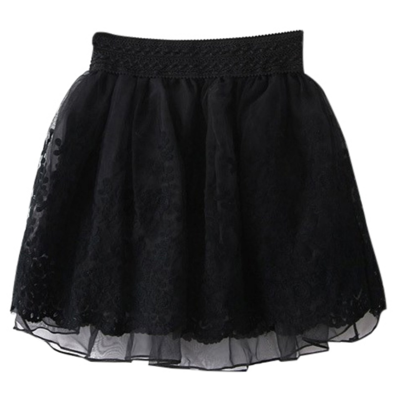 s skirt lace embroidery mini korean style pleated casual skirts ebay
