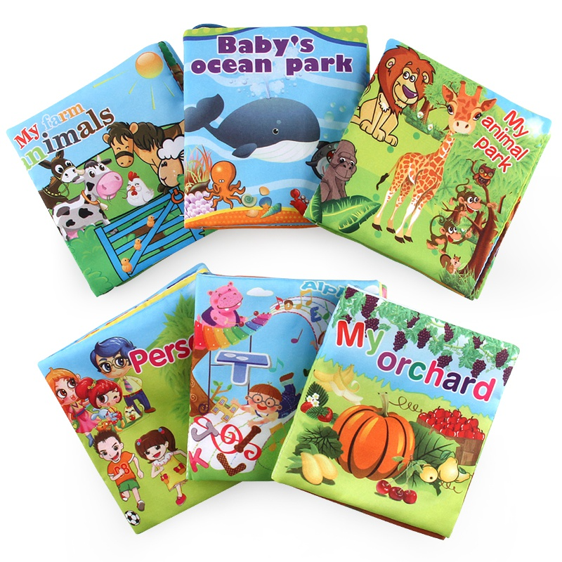 Baby Fabric Activity Crinkle Books Soft for Infants Baby Ear