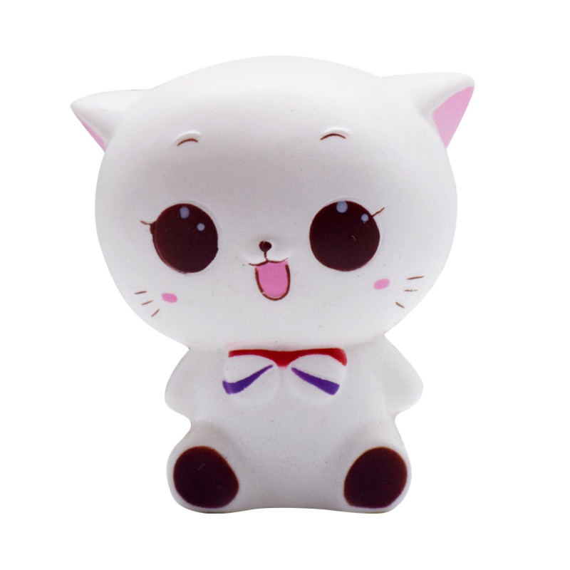 Squishy Cat Desk Toy : Soft Animal Food Squeeze Squishy Stress Reliever Healing Fun Toys Desk Decor UK eBay
